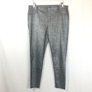 FG Holiday Silver Skinny Pant Jeggings Sz XL 16-18